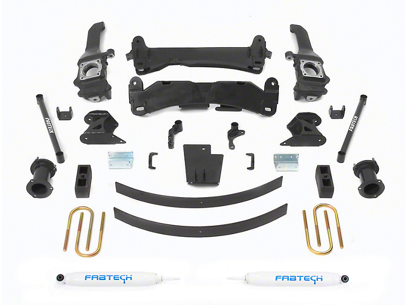 Fabtech 6 in. Basic Lift System w/ Performance Shocks (05-14 6-Lug Tacoma)