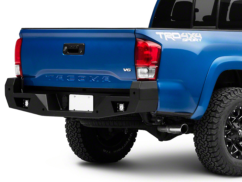 Armour Rear Bumper w/ Dually Lights (16-20 Tacoma)