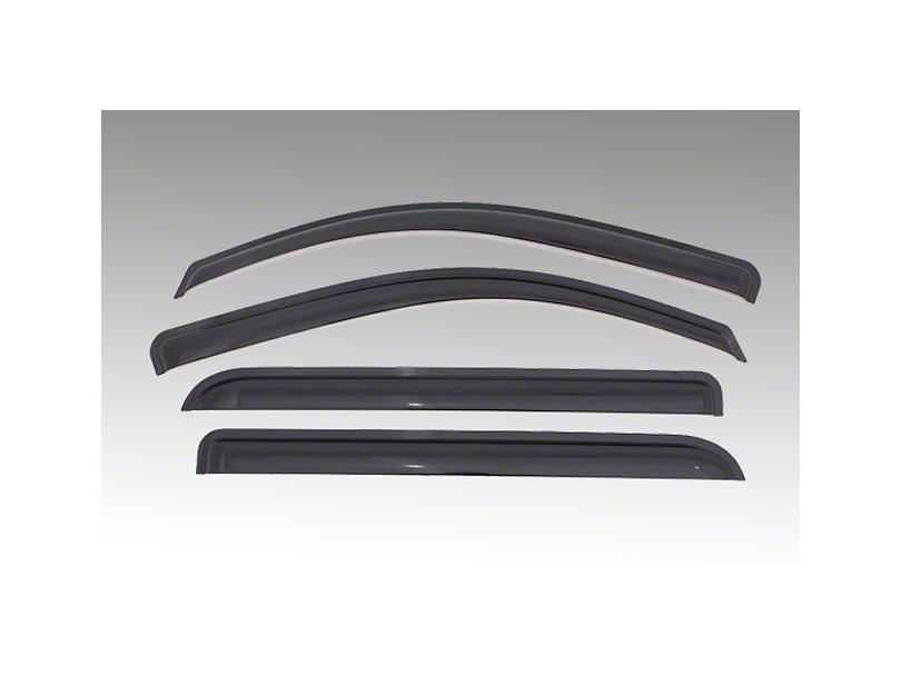 Black Horse Off Road Smoke Rain Guards - Front & Rear (05-15 Tacoma Double Cab)