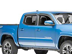 Black Horse Off Road Smoke Rain Guards - Front & Rear (16-19 Tacoma Double Cab)