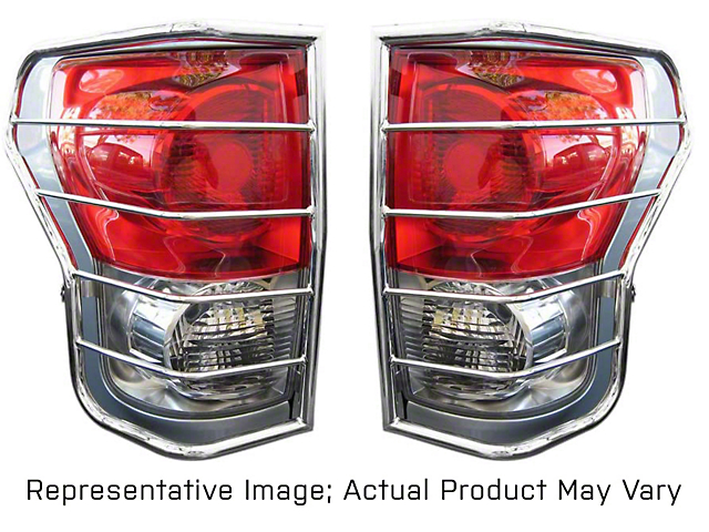 Tail Light Guards; Stainless Steel (08-13 Tacoma)