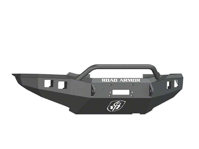 Road Armor Stealth Winch Front Bumper with Pre-Runner Guard; Satin Black (12-15 Tacoma)