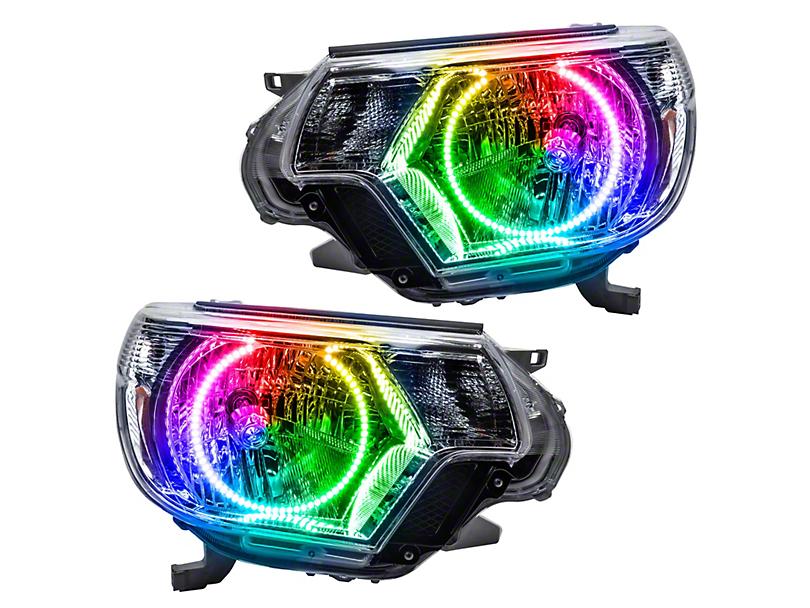 Oracle Chrome OE Style Headlights w/ ColorSHIFT LED Halos (12-15 Tacoma)