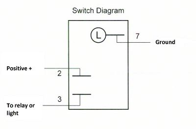 Positive Switched Relay Schematic Diagram