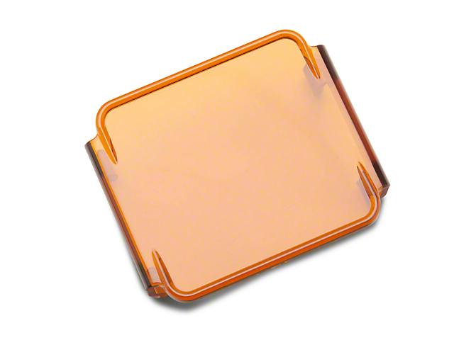 Rugged Ridge 3-Inch LED Light Cover; Amber
