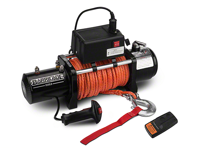 Barricade 9,500 lb. Winch with Synthetic Rope and Wireless Control