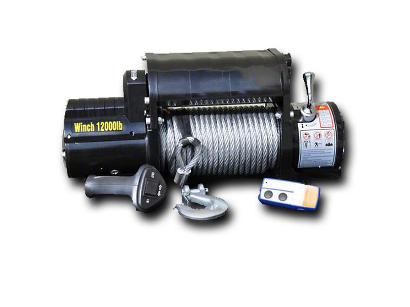 DV8 Off-Road 12,000 lb. Winch w/ Steel Cable & Wireless Remote