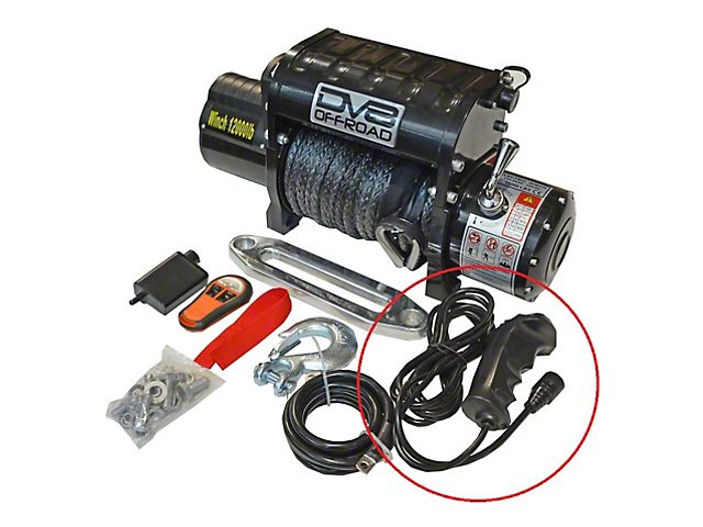 DV8 Offroad 12,000 lb. Winch Replacement Wired Remote