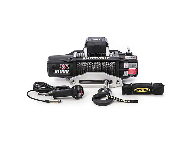 Smittybilt Gen2 X2O 10,000 lb. Winch with Synthetic Rope and Wireless Control