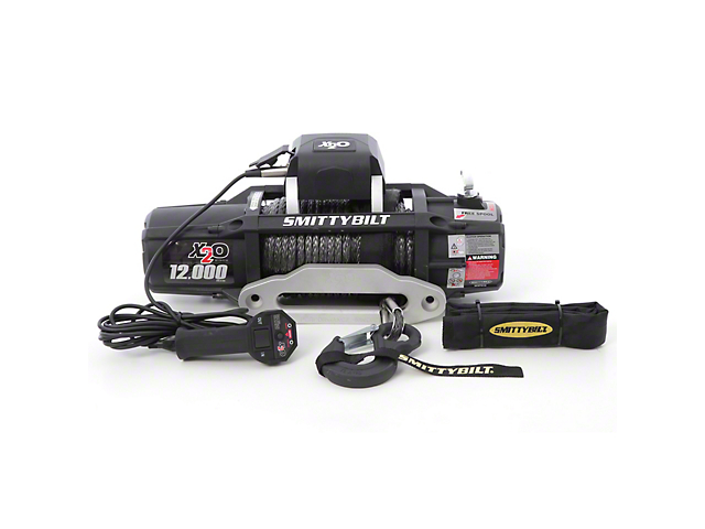 Smittybilt Gen2 X2O 12,000 lb. Winch with Synthetic Rope and Wireless Control