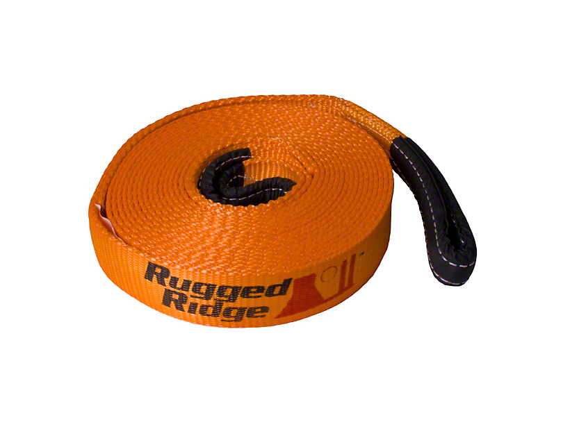 Rugged Ridge 3 in. x 30 ft. Recovery Strap - 30,000 lb.