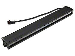 Rough Country 20-Inch Black Series Single Row LED Light Bar; Spot Beam (Universal; Some Adaptation May Be Required)