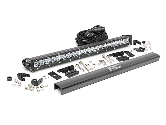 Rough Country 20 in. Chrome Series Single Row LED Light Bar - Spot Beam