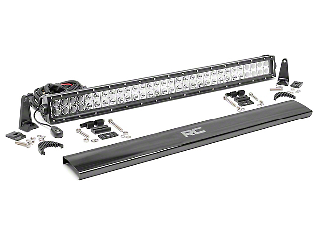 Rough Country 30 in. Chrome Series Dual Row LED Light Bar - Flood/Spot Combo