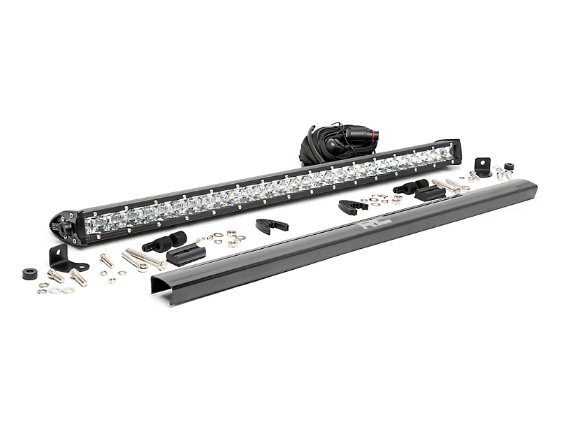 Rough Country 30 in. Chrome Series Single Row LED Light Bar - Spot Beam