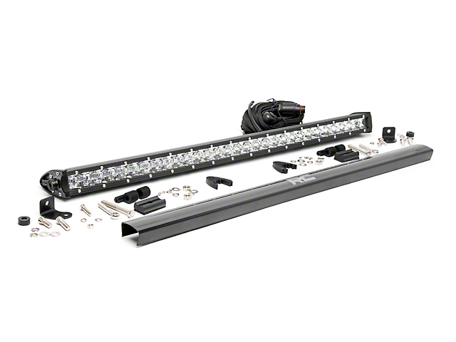 Rough Country 30-Inch Chrome Series Single Row LED Light Bar; Spot Beam