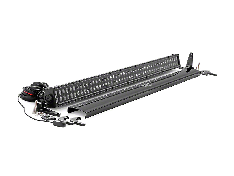 Rough Country 50 in. Black Series Dual Row LED Light Bar - Flood/Spot Combo