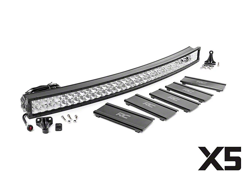 Rough Country 50 in. X5 Series Curved Dual Row LED Light Bar - Flood/Spot Combo