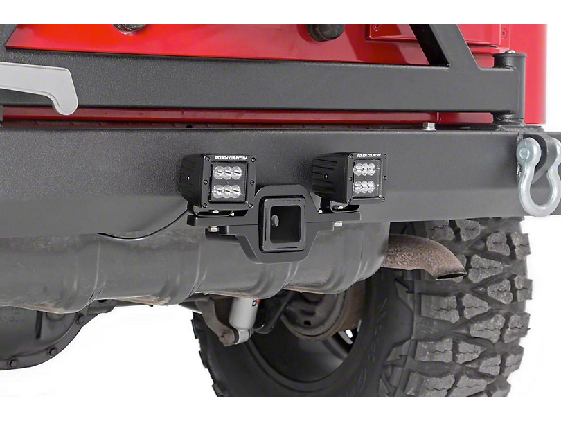 Rough Country Hitch Mount Black Series LED Light Kit - Spot Beam (Universal Fitment)