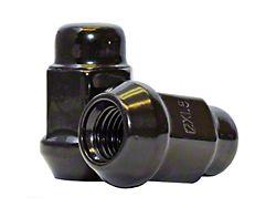 Black Acorn Lug Nut Kit; 12mm x 1.5; Set of 24 (05-21 Tacoma)