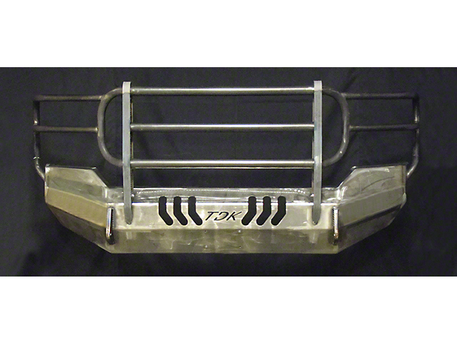Throttle Down Kustoms Standard Front Bumper w/ Grille Guard & Dual LED Cube Light Holes - Bare Metal (16-20 Tacoma)