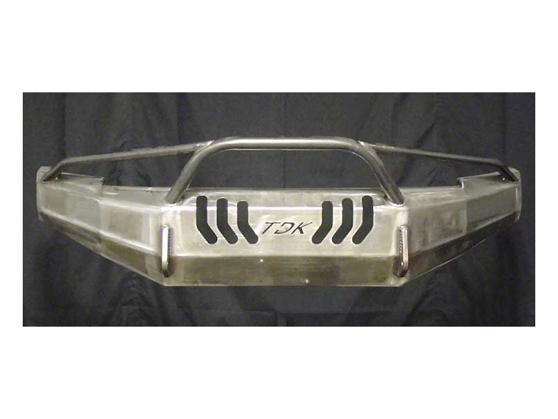 Throttle Down Kustoms Pre-Runner Front Bumper w/ Dual LED Cube Light Holes - Bare Metal (16-20 Tacoma)