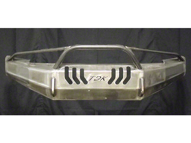 Throttle Down Kustoms Pre-Runner Front Bumper w/ Dual LED Cube Light Holes - Bare Metal (16-19 Tacoma)
