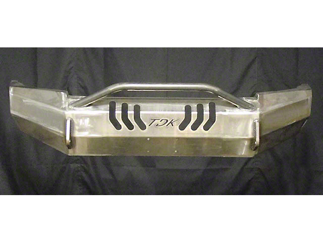 Throttle Down Kustoms Push Bar Front Bumper w/ Dual LED Cube Light Holes - Bare Metal (05-11 Tacoma)