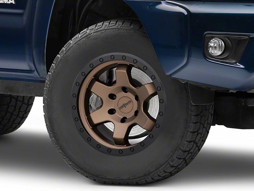 Rotiform SIX-OR Bronze 6-Lug Wheel; 17x9; 1mm Offset (05-15 Tacoma)