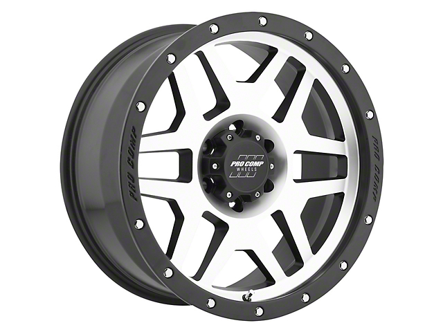 Pro Comp Wheels Phaser Black Machined 6-Lug Wheel; 17x9; -6mm Offset (05-15 Tacoma)