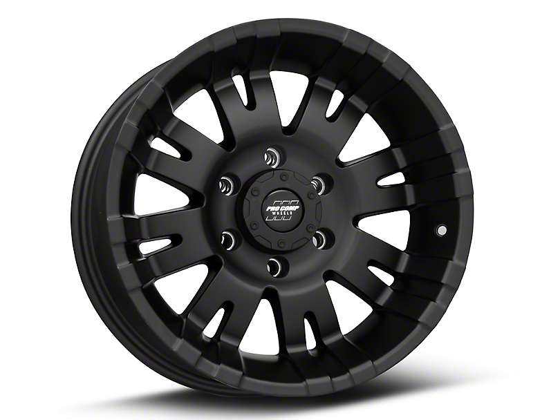 Pro Comp Wheels 01 Series Satin Black 6-Lug Wheel - 17x9; -6mm Offset (05-20 Tacoma)