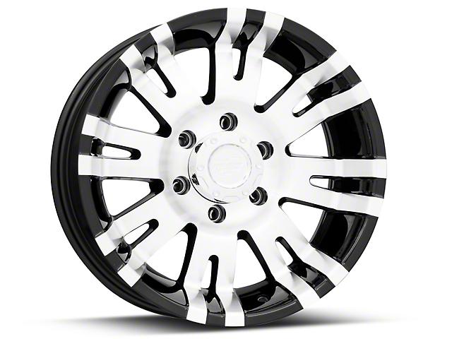 Pro Comp Wheels 01 Series Gloss Black Machined 6-Lug Wheel - 17x8; 0mm Offset (05-15 Tacoma)