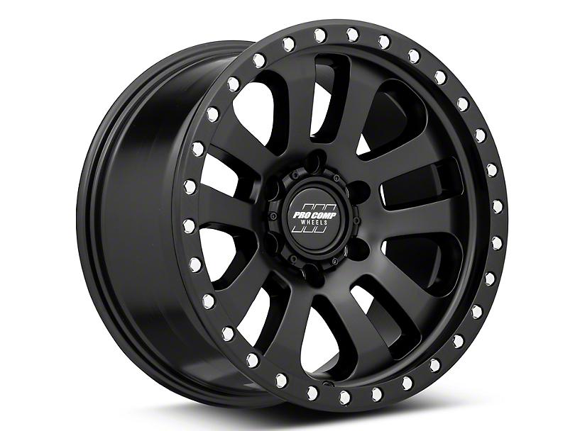 Pro Comp Wheels Prodigy Satin Black 6-Lug Wheel; 17x9; -6mm Offset (05-15 Tacoma)