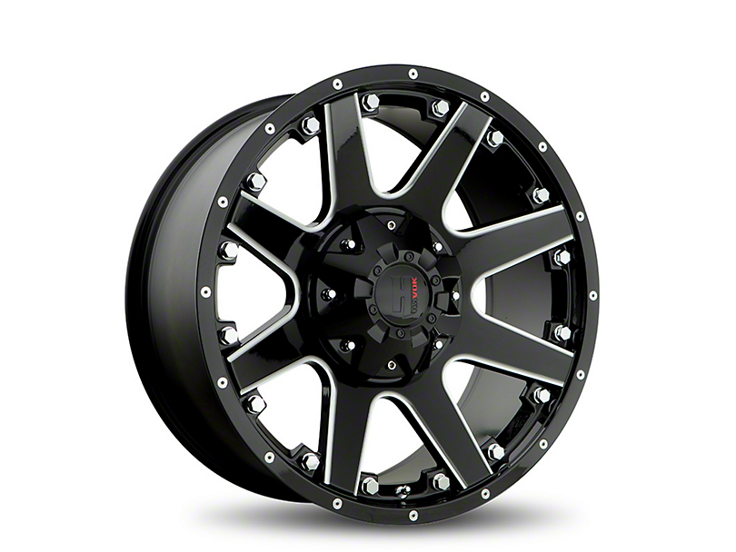Havok Off-Road H102 Black Milled 6-Lug Wheel - 18x9 (05-19 Tacoma)