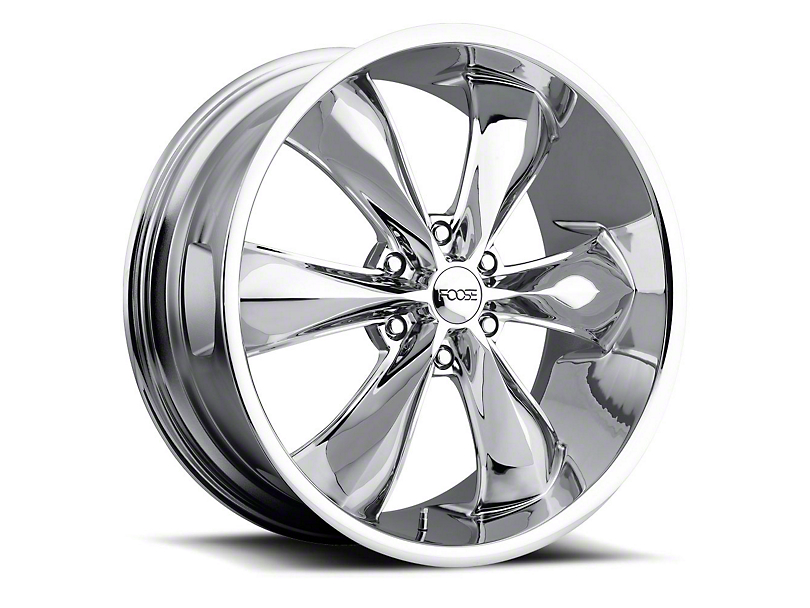Foose Legend Six Chrome 6-Lug Wheel; 20x9; 25mm Offset (05-15 Tacoma)