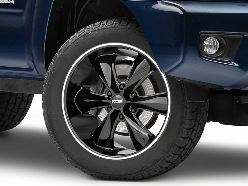 Foose Legend Six Gloss Black 6-Lug Wheel; 20x9; 25mm Offset (05-15 Tacoma)