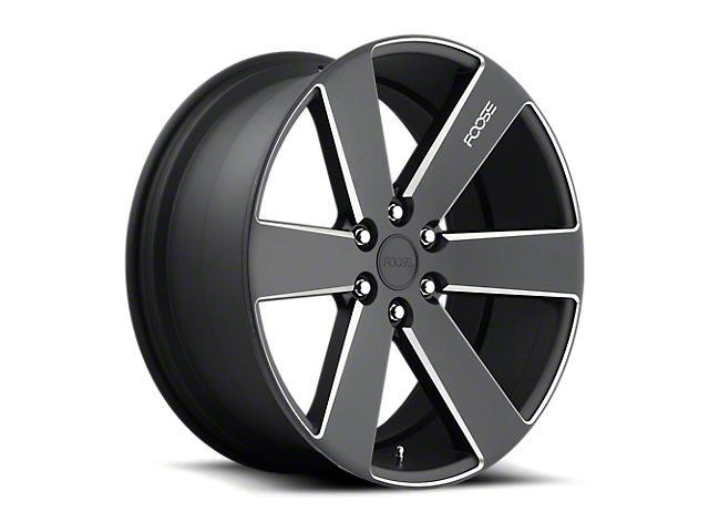 Foose Switch Black Milled 6-Lug Wheel; 20x9.5; 30mm Offset (05-15 Tacoma)