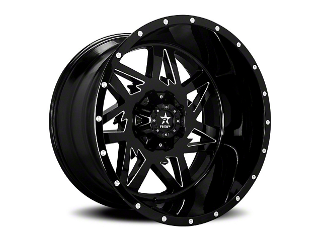 RBP 71R Avenger Gloss Black w/ Machined Grooves 6-Lug Wheel - 20x10 (05-19 Tacoma)