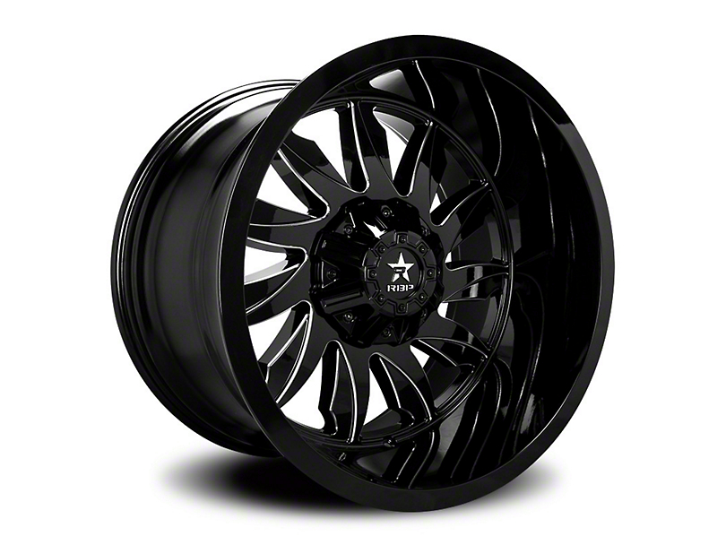 RBP 74R Silencer Gloss Black w/ Machined Grooves 6-Lug Wheel - 20x10 (05-19 Tacoma)