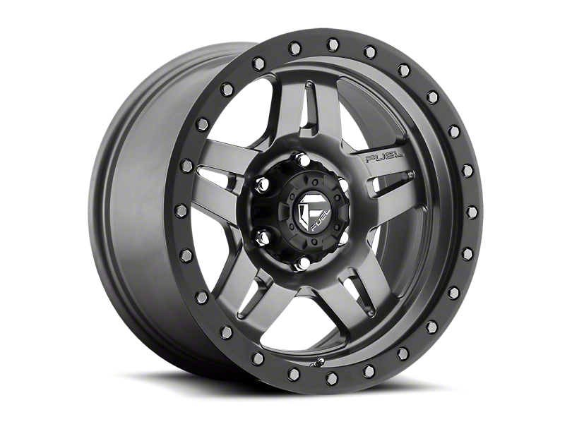 Fuel Wheels Anza Anthracite w/ Black Ring 6-Lug Wheel - 17x8.5 (05-20 Tacoma)