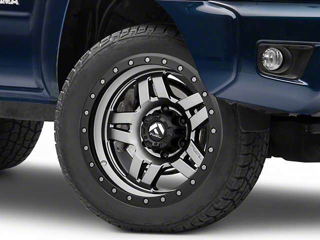 Fuel Wheels Anza Anthracite w/ Black Ring 6-Lug Wheel - 20x9; 20mm Offset (05-20 Tacoma)