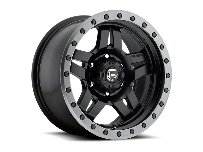 Fuel Wheels Anza Matte Black with Anthracite Ring 6-Lug Wheel; 17x8.5; 6mm Offset (16-20 Tacoma)
