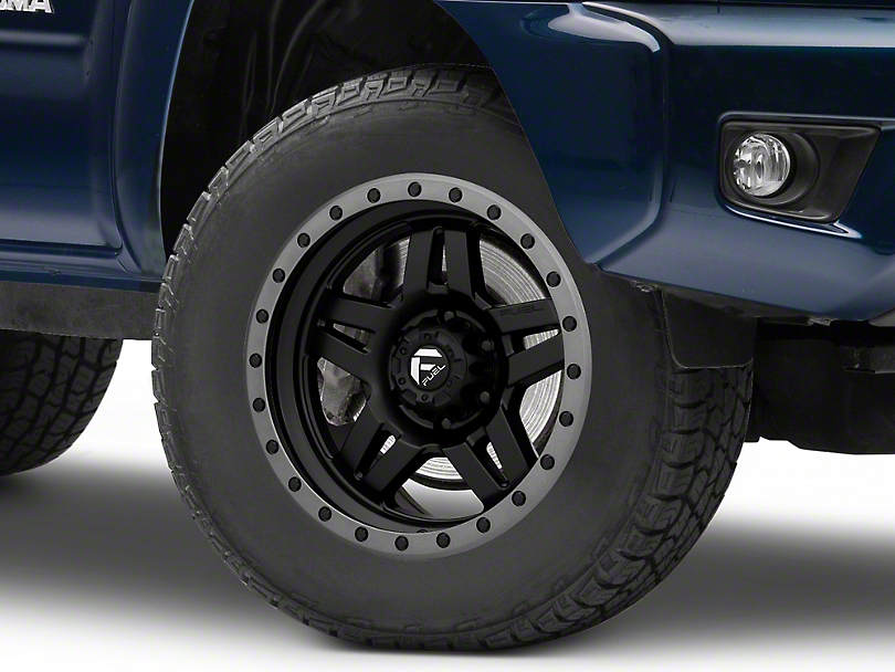 Fuel Wheels Anza Matte Black with Anthracite Ring 6-Lug Wheel; 18x9; 1mm Offset (05-15 Tacoma)