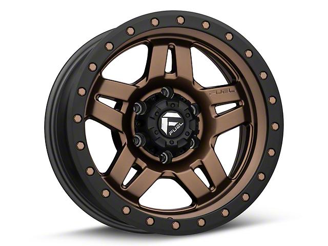 Fuel Wheels Anza Matte Bronze w/ Black Ring 6-Lug Wheel; 17x8.5 (05-20 Tacoma)