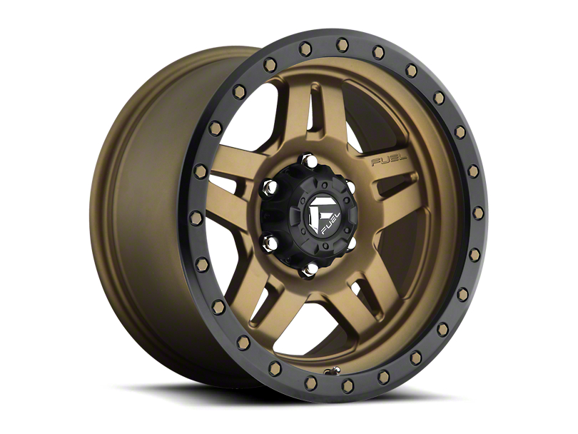 Fuel Wheels Anza Matte Bronze w/ Black Ring 6-Lug Wheel; 20x9 (05-20 Tacoma)