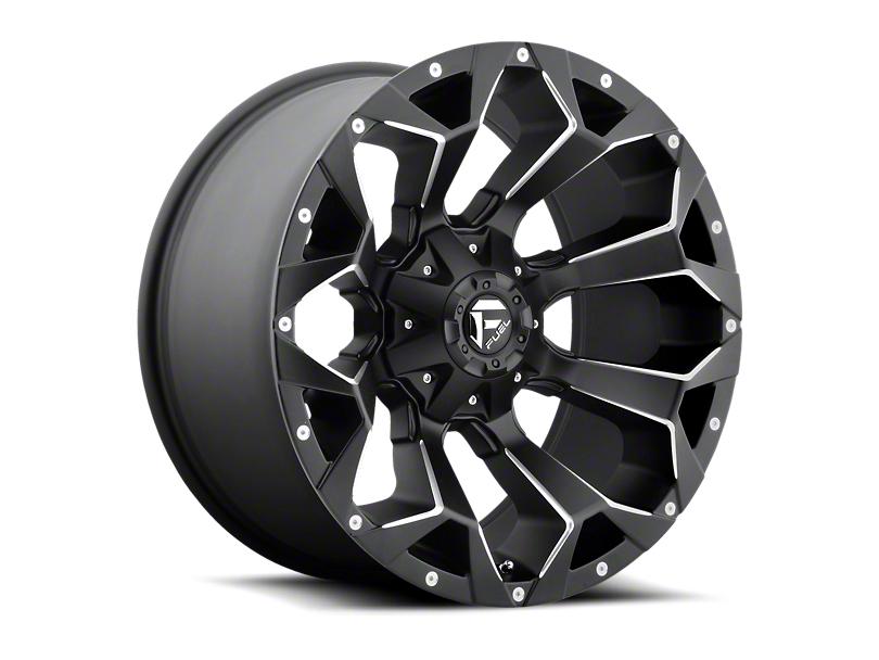 Fuel Wheels Assault Satin Black Milled 6-Lug Wheel; 18x9 (05-20 Tacoma)