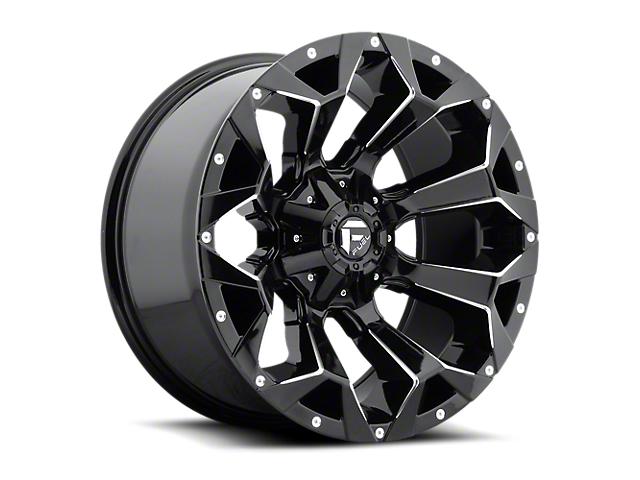 Fuel Wheels Assault Gloss Black Milled 6-Lug Wheel; 18x9 (05-20 Tacoma)