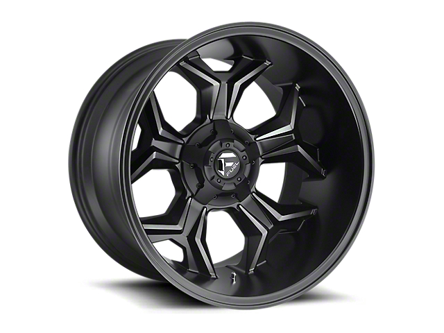 Fuel Wheels Avenger Matte Black Machined with Dark Tint 6-Lug Wheel; 20x10; -18mm Offset (05-15 Tacoma)