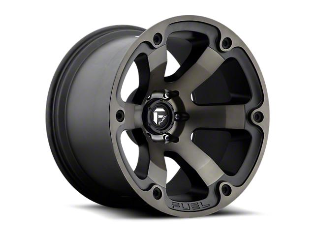 Fuel Wheels Beast Matte Black Machined w/ Dark Tint 6-Lug Wheel; 17x9 (05-20 Tacoma)