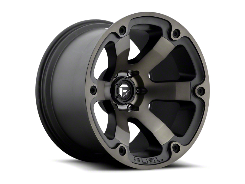 Fuel Wheels Beast Matte Black Machined w/ Dark Tint 6-Lug Wheel; 18x9 (05-20 Tacoma)